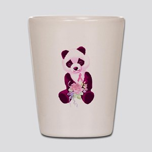 Breast Cancer Panda Bear Shot Glass