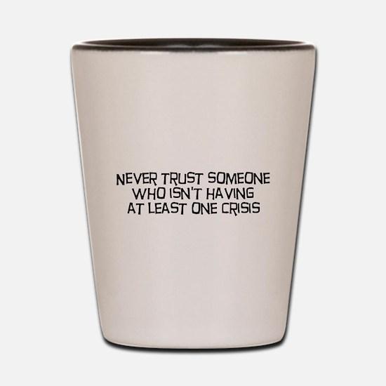 Never Trust Someone Shot Glass