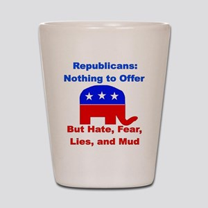 Anti-Republican Shot Glass