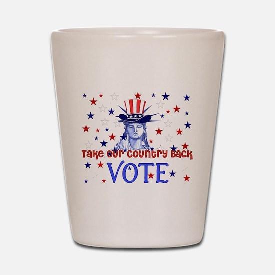 Vote Election 2008 Shot Glass