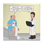 Doctor-Patient Drug Requests Tile Coaster