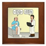 Doctor-Patient Drug Requests Framed Tile