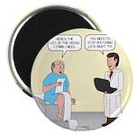 Doctor-Patient Drug Requests Round Magnet