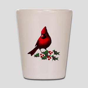 Christmas Cardinal Shot Glass
