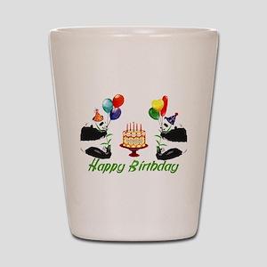 Birthday Pandas Shot Glass