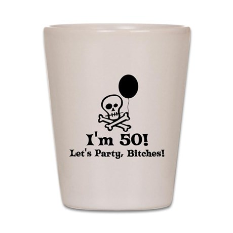 50th Birthday Party Shot Glass