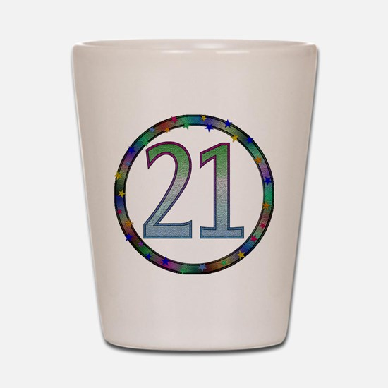 21st Birthday Shirt Shot Glass