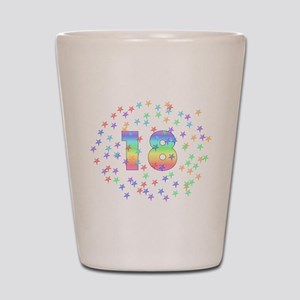 18th Birthday Pastel Stars Shot Glass