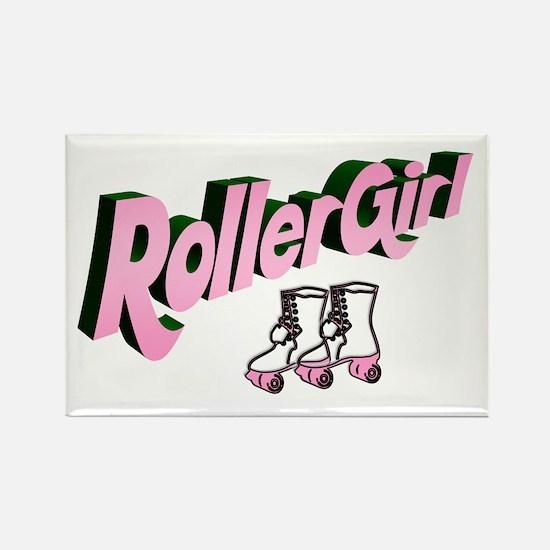 """""""Roller Girl"""" Rectangle Magnet"""