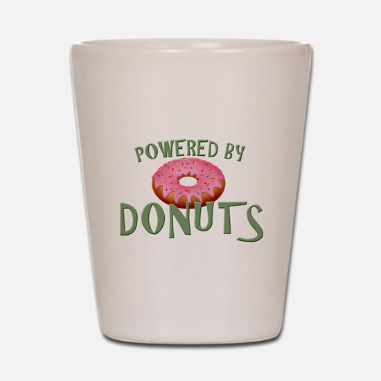 Powered By Donuts Shot Glass