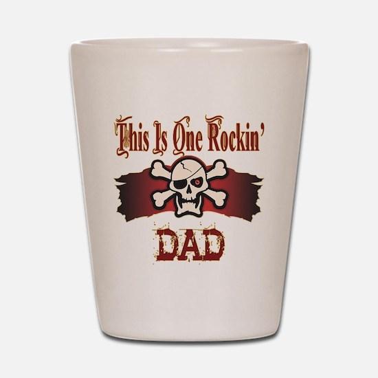 Rockin Dad Shot Glass