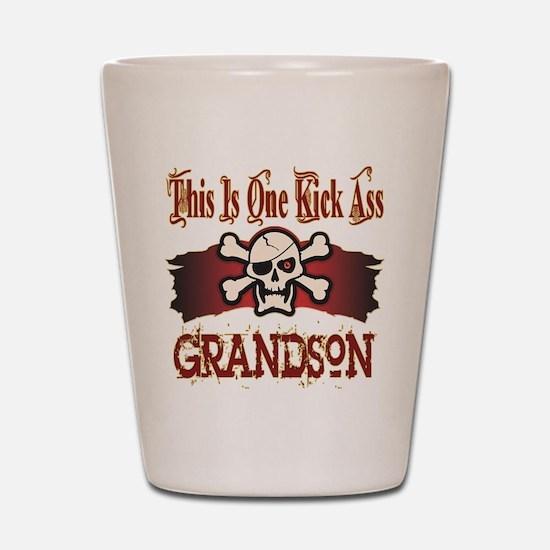 Kickass Grandson Shot Glass