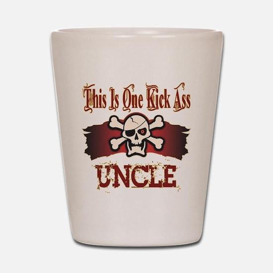 Kickass Uncles Shot Glass