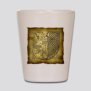 Celtic Letter J Shot Glass