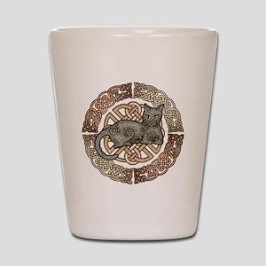 Celtic Cat Shot Glass