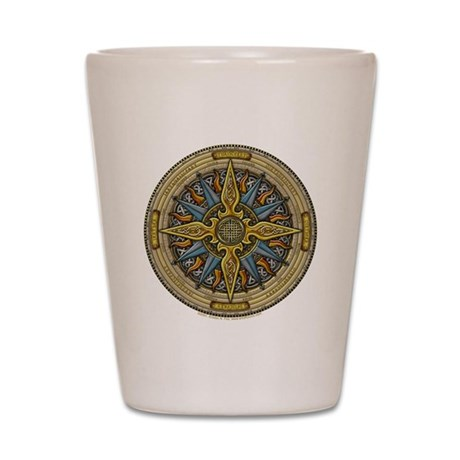 Celtic Compass Shot Glass