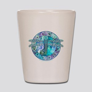 Cool Celtic Dragonfly Shot Glass