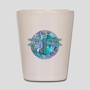 Cool Celtic Dragonfly Shot Glass
