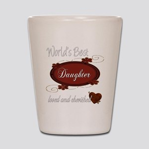 Cherished Daughter Shot Glass