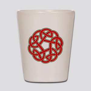 Celtic Christmas Knot Shot Glass