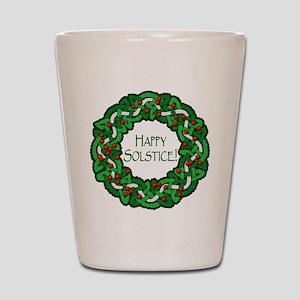 Celtic Solstice Wreath Shot Glass