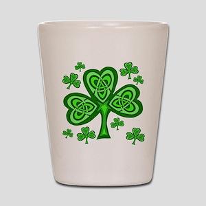 Celtic Shamrocks Shot Glass