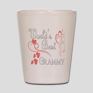 Best Grammy (Pink Hearts) Shot Glass