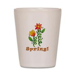 Spring Flowers Shot Glass
