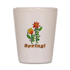 Spring Flowers Shot Glass