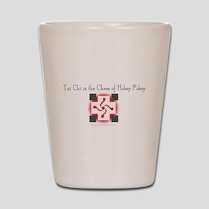 Tai Chi Chess Hokey Pokey Shot Glass