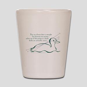 Ducks Are Naturally Curvy Shot Glass