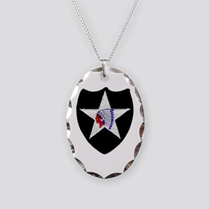 2nd INFANTRY DIVISION Necklace Oval Charm