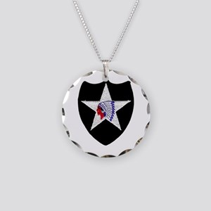 2nd INFANTRY DIVISION Necklace Circle Charm