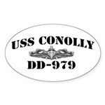 USS CONOLLY Sticker (Oval)