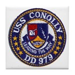 USS CONOLLY Tile Coaster
