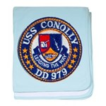 USS CONOLLY baby blanket