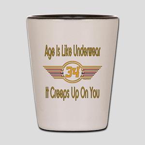 Funny 34th Birthday Shot Glass