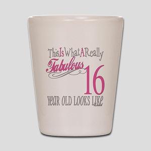 16th Birthday Gifts Shot Glass