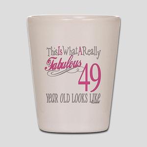 49th Birthday Gifts Shot Glass