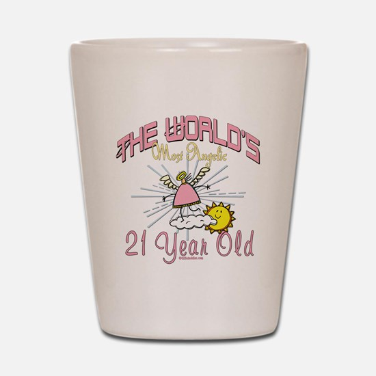 Angelic At 21 Shot Glass