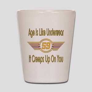 Funny 59th Birthday Shot Glass