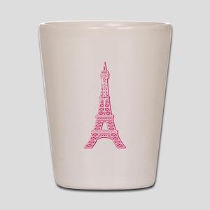 Pink Eiffel Tower Shot Glass