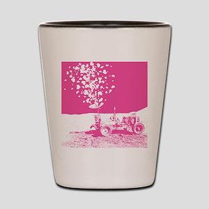 Pink Lunar Rover of Love Shot Glass