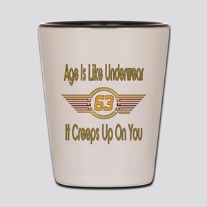 Funny 63rd Birthday Shot Glass