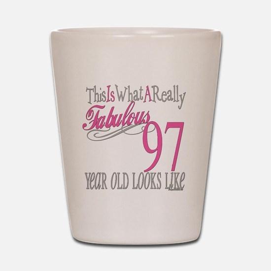 97th Birthday Gifts Shot Glass
