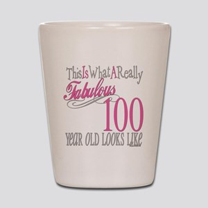 100th Birthday Gift Shot Glass