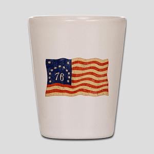 Retro 1776 American Flag Shot Glass
