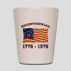 Retro 1776-1976 Flag Shot Glass