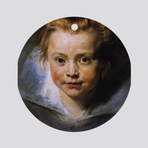 Portrait of a Young Girl Ornament (Round)