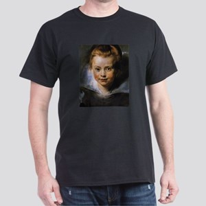 Portrait of a Young Girl Dark T-Shirt